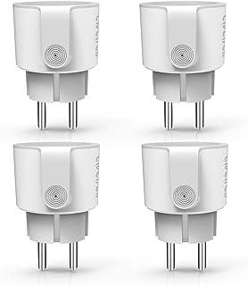 Enchufe Inteligente Wifi, Enchufe Conéctese Alexa/Google Home, Smart Plug 16A, Comando de Voz, Programa de Tiempo, Ahorro de Energía por Avatar Controls (4 PACK)