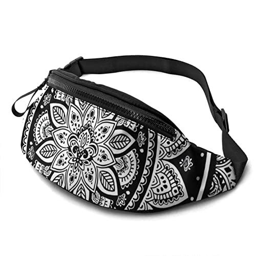 MSJS Riñonera bohemia india con mandala, cinturón para correr para hombres y mujeres, unisex, bolsa de cinturón ajustable, para actividades al aire libre, entrenamiento, senderismo, regalos