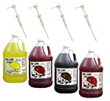 Snow Cone Syrup Gallons W/Pumps (Root Beer-Banana-Fruit Punch-Bubble Gum)