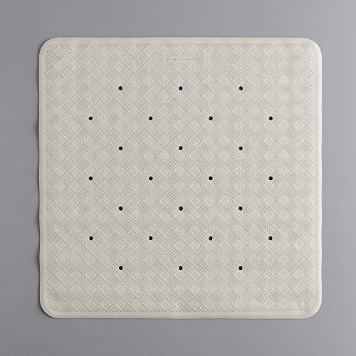 Rubbermaid Commercial Safti-Grip Shower Mat, Square, 22.25' x 22.25', Off-White