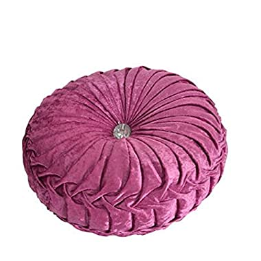 TMJJ Round Solid Color Velvet Chair Cushion Couch Pumpkin Throw Pillow Home Decorative Floor Pillow