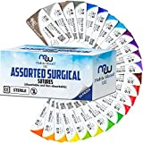 Mixed Sutures Thread with Needle (Absorbable: Chromic Catgut; Non-Absorbable: Nylon, Silk,...