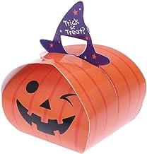 Holibanna Halloween Snoep Box Verpakking Pompoen Biscuit Dozen Draagbare Opvouwbare Pompoen Patroon Papier Candy Container...