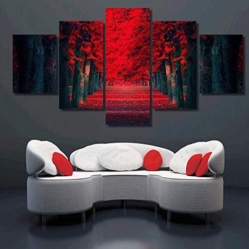 TACBZ 5-teiliges Leinwandbild, großes Gemälde, HD-Druck, 5 Tafeln, Manglar, Landschaftsdruck, Künstler-Leinwand