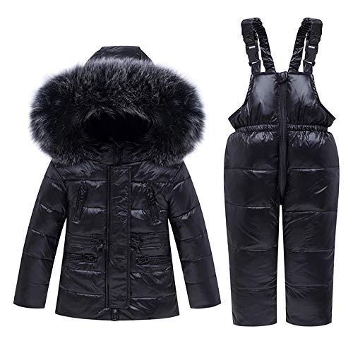 heshengbrothers Warm Down Jas Sneeuwpak Met Hooded Kleding Set Verdikte Winter Jas Broek Peuter Down Broek