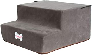 TOPBIGGER Pet Stairs, Dog Stairs 2 Steps Velvet Holster Bed Ladder for Dogs Cats Stairs Car Dog Ladder