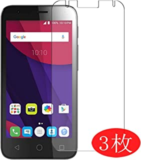 【3 Pack】 Synvy Screen Protector for Alcatel Pixi 4 (4.5) TPU Flexible HD Clear Case-Friendly Film Protective Protectors [Not Tempered Glass] Updated Version