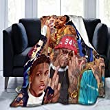 KATHRYN TIMOTHY August Alsina Blanket Microfiber Throw Flannel Blanket Super Soft Warm Fuzzy Cozy Lightweight Blanket for Bed Couch Sofa Car Throw 60'x50'