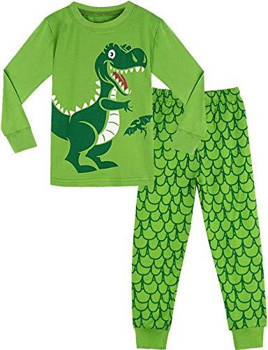 MOMBEBE COSLAND Pigiama Dinosauro Bambino Abbigliamento Set (Verde, 6-7 Anni)
