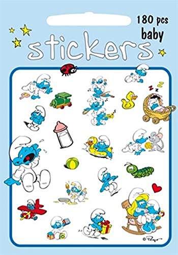 Los Pitufos - Stickers Bebé pitufo (Barbo Toys 8003) (APPRENTISSAGE)
