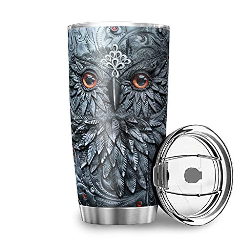Facbalaign Taza de agua de doble pared a prueba de fugas con tapa, 600 ml, color blanco