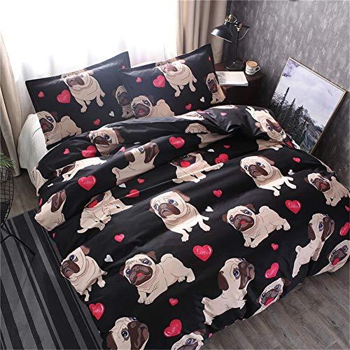 Dream-cool Bedding Set 3D Cute Dog Set Copripiumino Singolo/Full/Queen/King copripiumini federe di Cotone Trapunta Home Textile 2/Pezzi Set Single(150x200cm) 2pcs