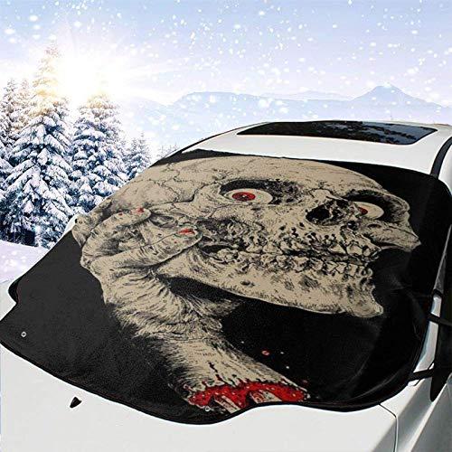 GOSMAO Protector de ParabrisasCabeza y Mano Cubierta de Parabrisas Coche Protege de Rayos Antihielo y Nieve,UV,Lluvia,Funda Plegable Delantero 147 * 118cm