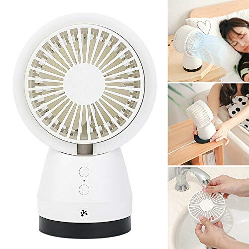 Great Features Of POWSTRO K Air Filter Purification Table Fan Timing Function Adjustable 3-Mode Mini...