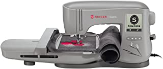 SINGER | Superb EM200 Embroidery Sewing Machine Including 200 Embroidery Designs, Automatic Needle Threader, Extra-Large Embroidery Area, LCD Touch, Perfect for Sewing All Types of Fabrics with Ease