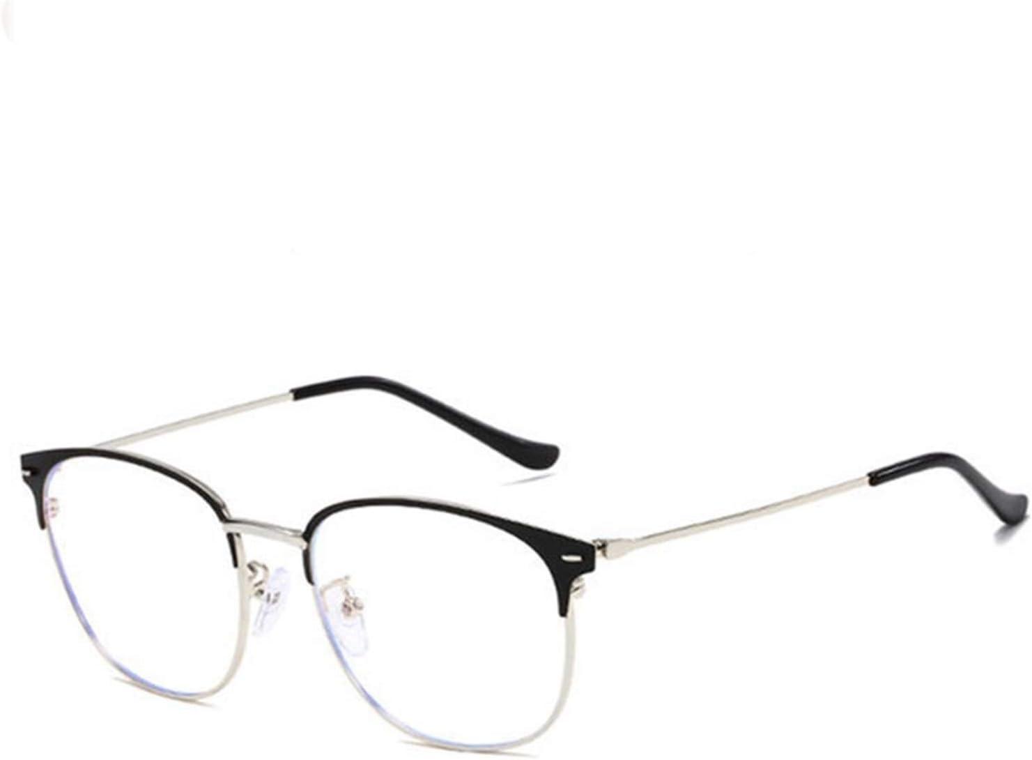 Lucha contra el azul claro de cristal de los hombres de lectura Gafas de protección Gafas ordenador del juego de los vidrios por 210103 (Frame Color : 5)