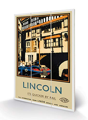 National Railway Museum MW12541P Impression sur Bois 20 x 29 cm Lincoln (The Glory Hole by Fred Taylor), MDF, Multicolor, 20 x 29,5 x 1,2 cm