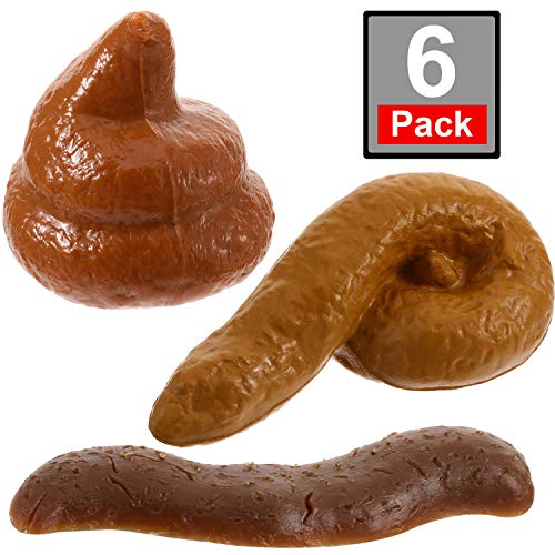 Boao 6 Pieces Novelty Floating Fake Pop, Great Gag Gift, Prank Gift, Two Realistic Poop Designs, Fake Turd for Prank