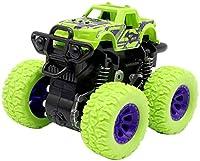 慣性回転車8.5cm * 9cm * 7cmTāyysキッズ摩擦力オフロード1ピース4WD車種慣性車Tıys子供誕生日プレゼント k (Color : GREEN)