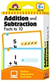 Evan-Moor Learning Line Flashcards: Addition and Subtraction Facts to 10, Grade 1+ (Age 5+) (Flashcards: Math)