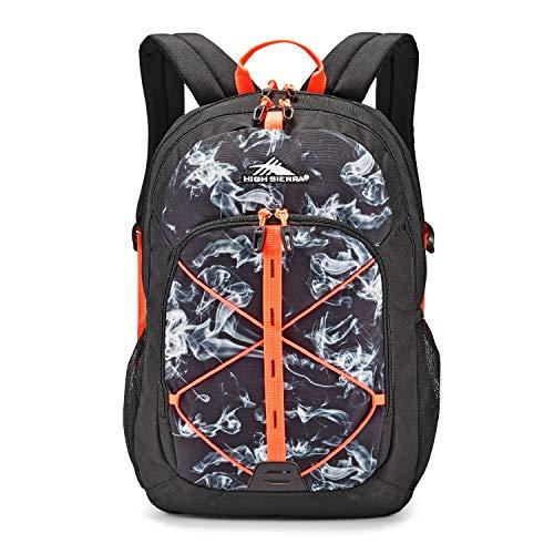 High Sierra Daio Backpack, Black Vapor/Black/Electric Orange