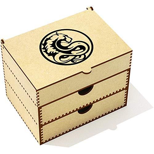 Azeeda 'Motif Animal Circulaire' Boîte de Maquillage (VC00006856)