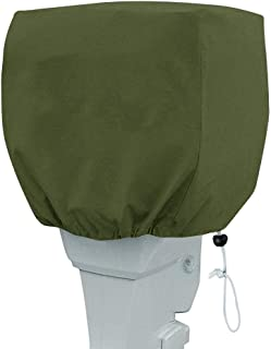 TUYU Outboard Motor Cover up to 20HP, Heavy Duty Waterproof Boat Cover, Motor Hood Cover, Outboard Motor for Boats, Drawn Cord Closure