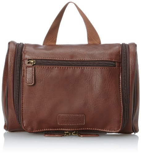 Perry Ellis Men's Hanging Travel Kit, Brown, One Size
