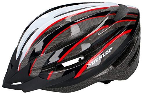 Fahrradhelm Dunlop HB13 für Damen, Herren, Kinder, EPS Innenschale, Abnehmbares Visier für optimalen Blendschutz, Leichter MTB City Bike Helm, besonders Luftig (S (53-55cm), Viele Farben)