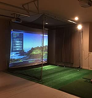 optishot Complete Golf Simulator, Projector+Laptop+Net,Screen,Mat - All New