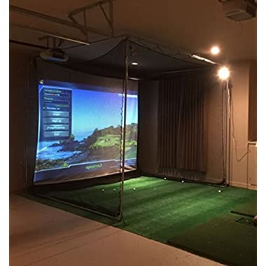 optishot Complete 2 Simulator + Projector + HP Touchscreen Laptop All