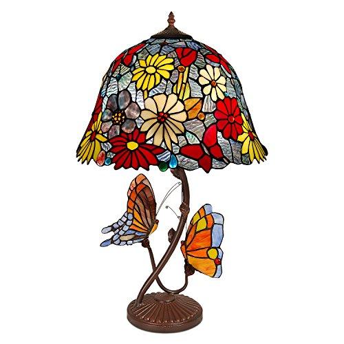 World Art TW60497 Lampes Style Tiffany, Multicolore, 68x41x41 Cm