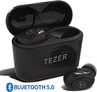 True Wireless Bluetooth Earbuds, Mini Bluetooth Earphones Latest Bluetooth 5.0 Headphone Built in Microphone & Dual Speakers with 8 Hours Talking Time for iOS and Android Smart Phones, Black