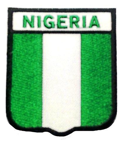 Bügel Flagge Fahne Afrika Nigeria Aufnäher Patch Applikation Bestickt