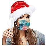 zhushuGG Weihnachten Bunt Einweg Mundschutz mit Schneeflocke Motiv, 3 lagig Mouth Cover, Mehrfarbig Maske Mund-Nasen Bedeckung Halstuch Schals für Damen Herren
