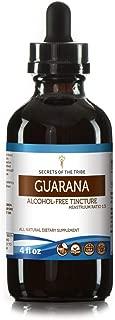 Guarana Tincture Alcohol-Free Extract, Organic Guarana (Paullinia cupana) Dried Seed Tincture Supplement (4 FL OZ)
