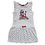 Miraculous LadyBug y Cat Noir – Vestido de manga corta con falda en volantes – lunares e impresión brillante – niña – Producto original 07IMOR turquesa 8 años