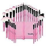 LLHJ - Juego de 32 brochas de maquillaje para sombra de ojos, cejas, lápices, maquillaje, cosméticos, base de maquillaje, brochas K-397LG