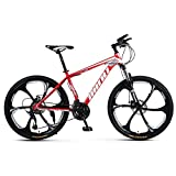 TOPYL Full Suspension Mountain Bikes Man,26 Inch Racing Adult Mountain Bike,Racing Bike Bicycles for Women,Mountain Bicycle Forks Red 26',24-Speed