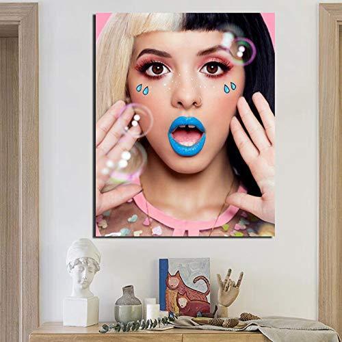 KWzEQ Pop-Art hübsches Mädchen Leinwand Malerei Wanddekoration Moderne Wohnkultur,Rahmenlose Malerei,70x90cm