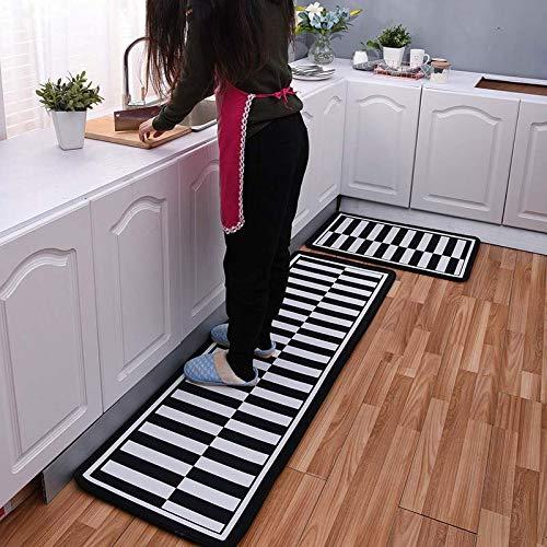 OPLJ Rutschfeste moderne Fußmatte für Zuhause, Küche, Flur, Türmatte für Haustür, Außenbereich, waschbar, rutschfest, A3, 40 x 60 cm