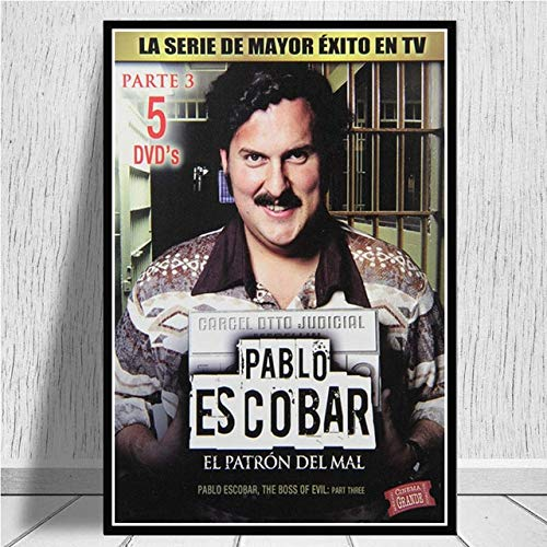 yaofale Sin Marco Pablo Escobar Leyenda del Personaje Retro Vintage Carteles e Impresiones Pintura Arte de la Pared Lienzo Cuadros de la Pared Decoracin del hogar  plakat 50x75cm
