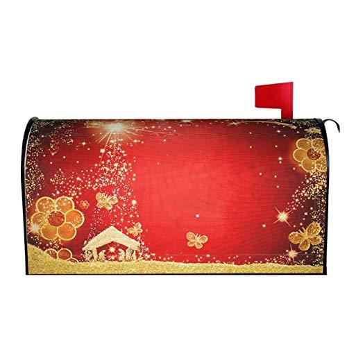 AuHomea - Buzón magnético de gran tamaño con diseño de Navidad para Belén de Navidad (64,8 x 53,3 cm)