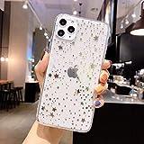 Cocomii Star Clear iPhone 12 PRO Max Custodia, Sottile Morbido TPU Silicone Scintillante Paillettes Bling Notte Stellata Glitter Case Bumper Cover Compatible with Apple iPhone 12 PRO Max 6.7' (Gold)
