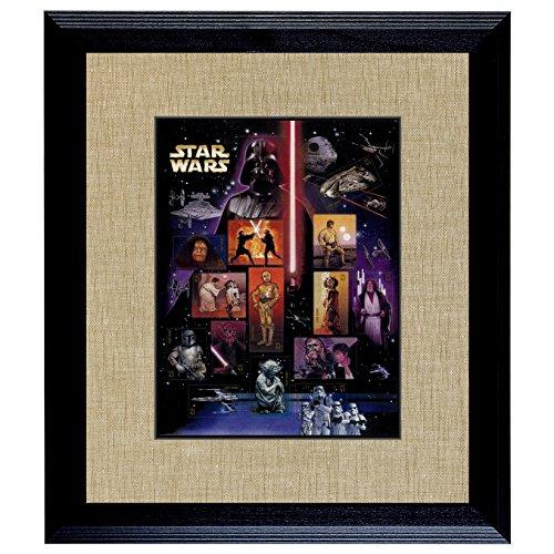American Coin Treasures Star Wars U.S. Stamp Sheet in 16x14 Wood Frame