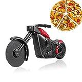 shuny-Moto Couteau à Pizza, Acier Inoxydable en Plastique Moto Rouleau couteauà...