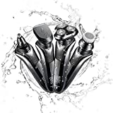 ROZIAPRO 4 in1 Electric Razor for Men Cordless Rechargeable with LCD Display,Beard trimmer & nose trimmer,Hair Clipper, facial cleansing brush, Lightweight & Sturdy Design, Ideal For travel Use