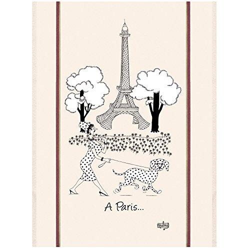 Winkler - Torchon - Torchon de cuisine - Chiffons de nettoyage - Serviette de cuisine - Torchon à vaisselle - Torchon de cuisine 100% Coton - 60 x 80 - Ecru - Chats Dubout Mode de Paris