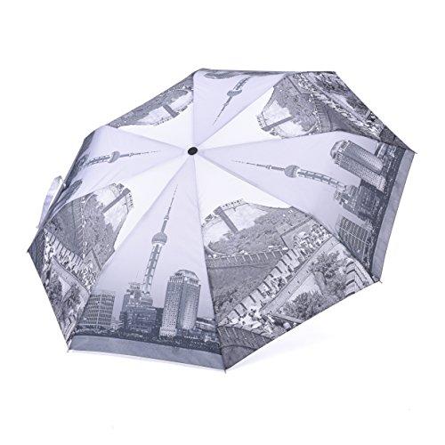 Rainbrace Ombrello da viaggio Pieghevole Compatto Automatico Antivento Anticalore con Motivo Stampato (Cina)