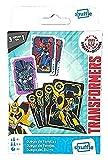 Shuffle Transformers 2 Barajas de Cartas con 3 Juegos de familias, Parejas y Burro